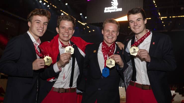 Die Schweizer holten gleich vier Goldmedaillen.