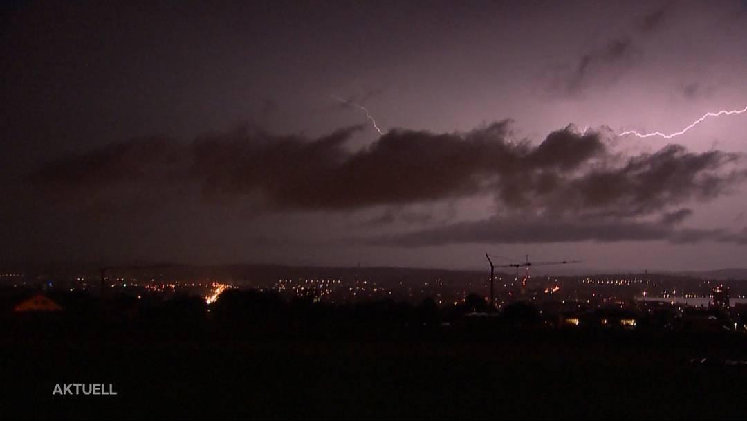 Fast 1'600 Blitzeinschläge im Aargau