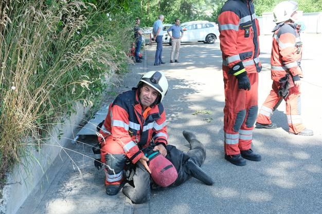 Feuerwehrübung bei der Limeco in Dietikon.