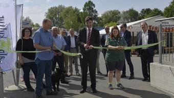 2018: Mia-Eröffnung mit Stapi François Scheidegger, Messeorganisator Christian Riesen und einiger Gemeinderäten der Stadt Grenchen