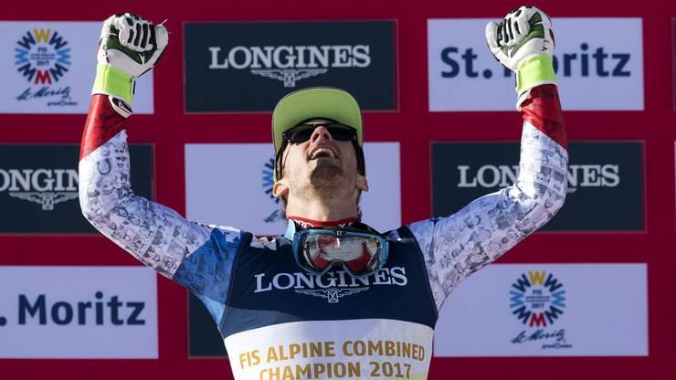 Luca Aerni, lass die feiern: Unser neuer Kombinations-Weltmeister.