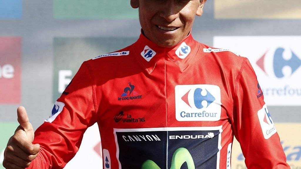 Nairo Quintana trägt an der Vuelta wieder das rote Leadertrikot