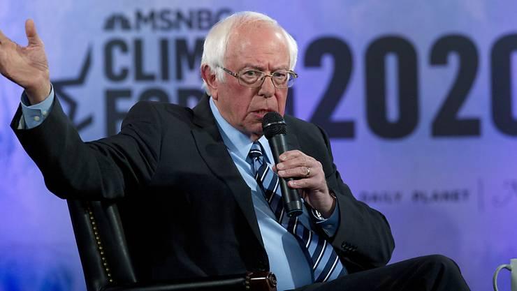 Das Wahlkampfteam um Bernie Sanders hat am Freitag bekanntgegeben, dass der demokratische Präsidentschaftskandidat einen Herzinfarkt erlitten hatte. (Archivbild)