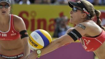 Endstation Viertelfinals in Gstaad für Beach-Dou Kuhn/Zumkehr