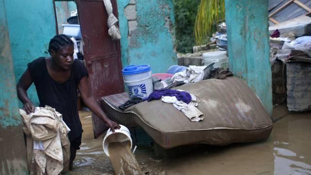 Zerstörtes Haus in Port-au-Prince, der Hauptstadt Haitis