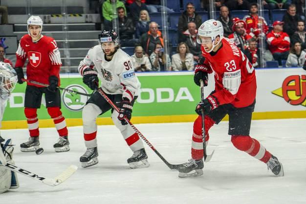 Der Treffer zum 3:0 durch Philipp Kurashev.