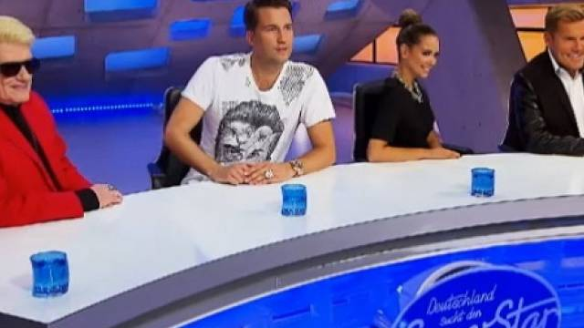 V.l.n.r.: Heino, DJ Antoine, Mandy Capristo, Dieter Bohlen (RTL)