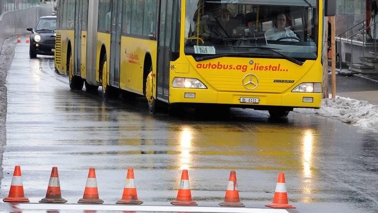 Die Schülerin wurde von einem Linienbus in Liestal erfasst. (Symbolbild)