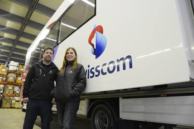 Tina Buergi und Klaus Haussener vor einem Event-Truck