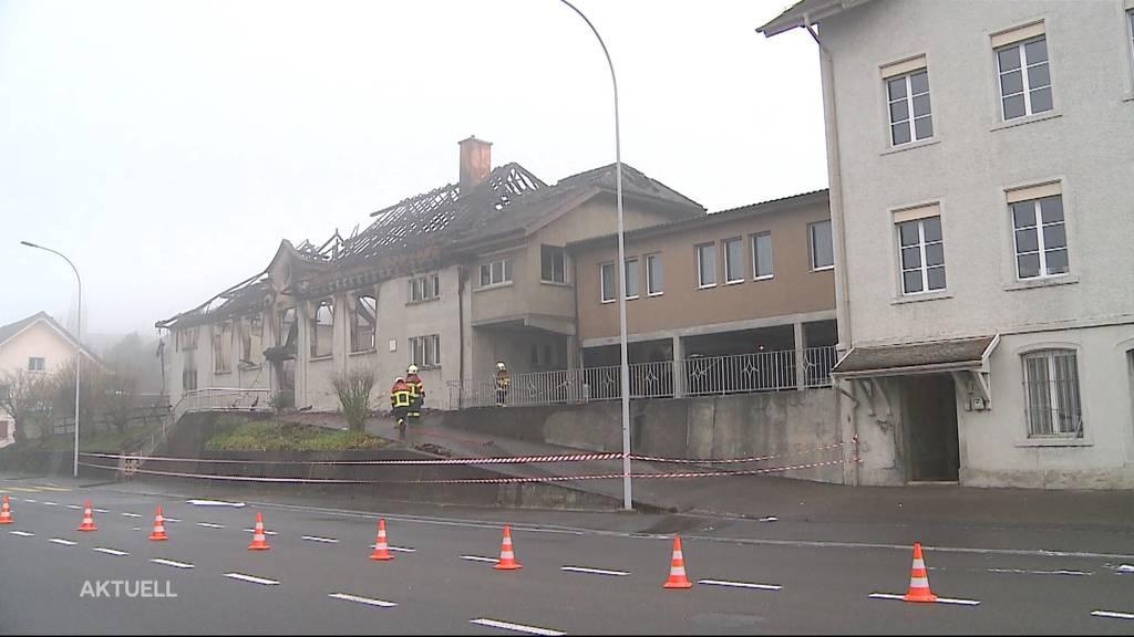 Turnhalle in Holderbank bis auf die Grundmauern abgebrannt