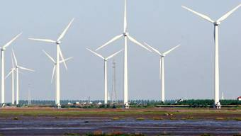 Windpark in Chinas Provinz Jiangsu (Archiv)