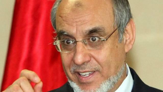 Der tunesische Ministerpräsident Jebali (als frommer Muslim erkennbar an den Gebetsspuren auf seiner Stirn)