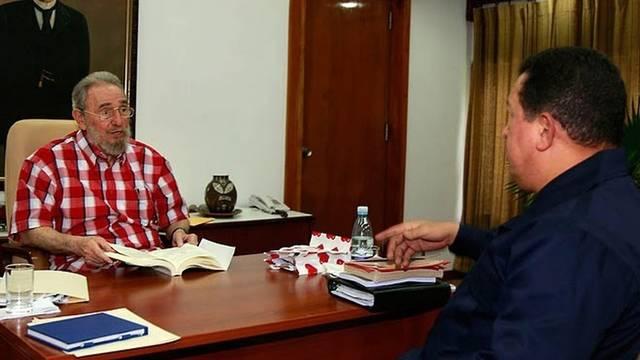 Chavez (l) im Gespräch mit Castro