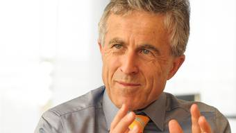 «Langweilig wird es mir sicher nicht»: Beat Oberlin (60), CEO der Basellandschaftlichen Kantonalbank, geht per April 2017 in Pension. (Archiv)