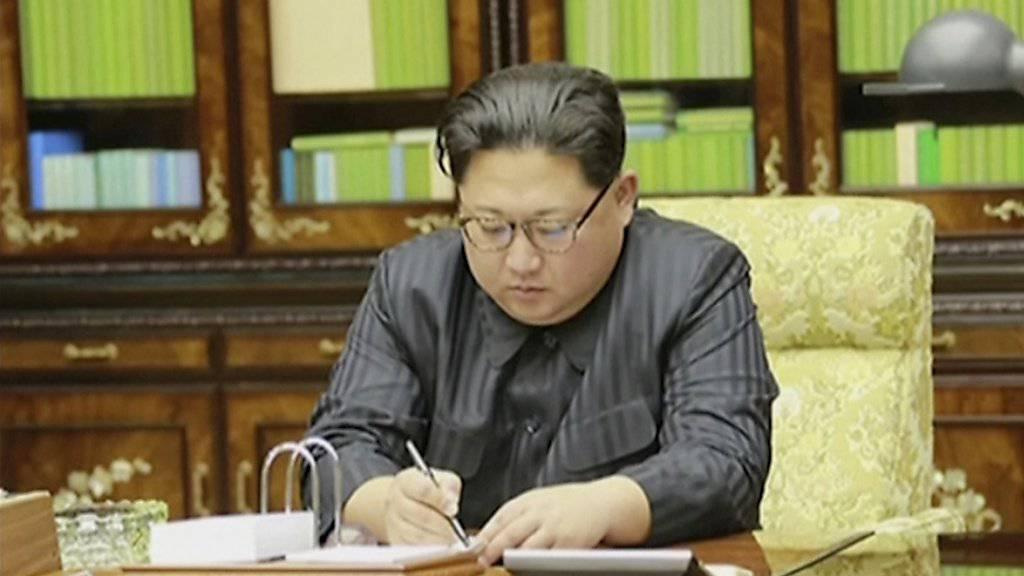 Liess einen neuen Waffentest «von grosser Bedeutung» durchführen: Nordkoreas Machthaber Kim Jong Un. (Archivbild)
