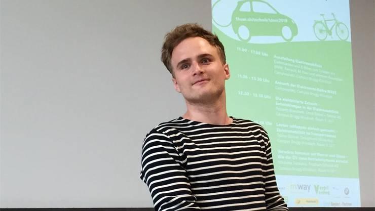 Moritz Meier war Student an der FHNW und Mitglied im Filmteam. zvg