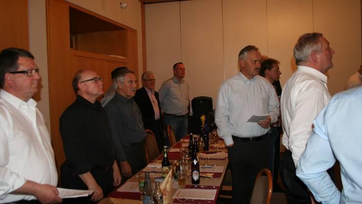 Schlusslied der 172. Generalversammlung des Männerchores Beinwil am See