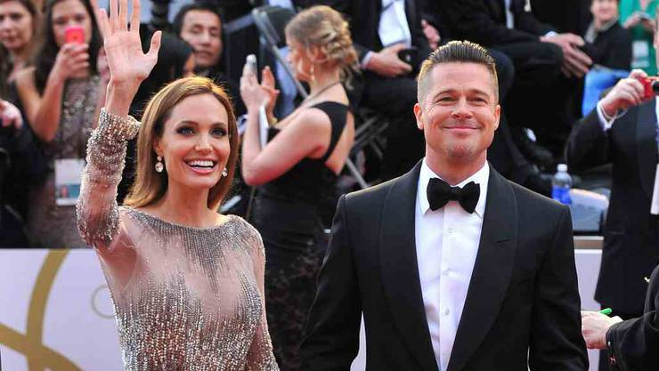 Angelina Jolie und Brad Pitt im März 2014 beim Dolby Theatre in Los Angeles