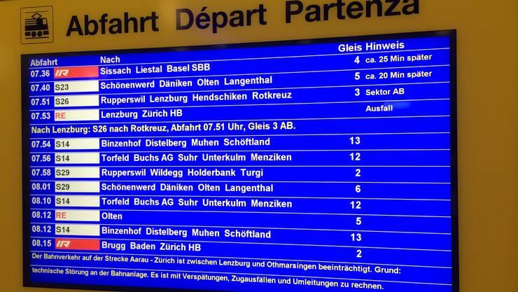 Die Störung wirkte sich auch auf den Verkehr in der Region Basel aus.