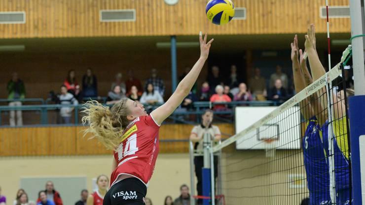Sm'Aesch-Nationalspielerin Laura Künzler war kaum zu bremsen.