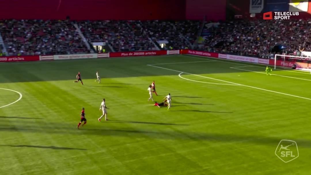 Barrage-Hinspiel, 2018/19, Neuenburg Xamax – FC Aarau, 34. Minute: Tor von Varol Tasar