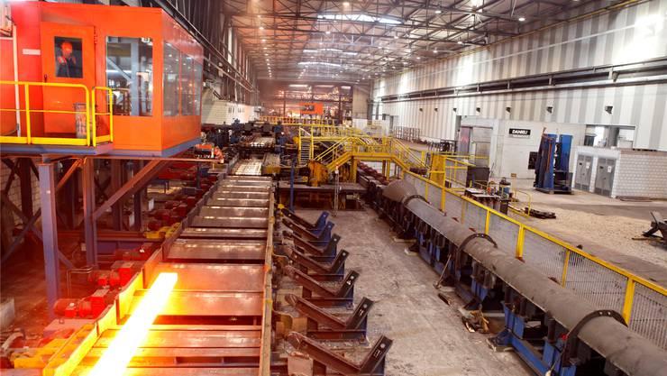 Die Stahlproduktion und -verarbeitung in Gerlafingen laufen auf Hochtouren.