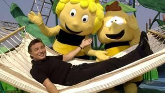 """Der tschechische Schlagerstar Karel Gott wurde in den 1970er-Jahre mit dem Song zur Trickfilmserie """"Biene Maja"""" zum internationalen Star. (Archivbild)"""
