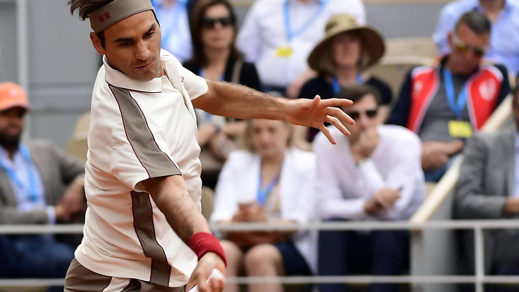 Roger Federer ohne Satzverlust weiter