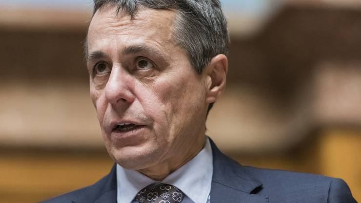 Ignazio Cassis steht mit seiner Haltung im Bundesrat alleine.