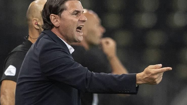 Trainer Gerardo Seoane könnte seine Mannschaft am Donnerstag zu einem wichtigen Sieg führen