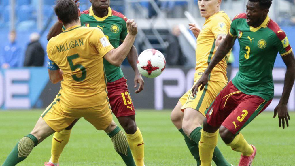 Viel Kampf, aber wenig Klasse bei Kamerun gegen Australien