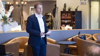 Baudirektionsleiter Kurt Schneider warb am Gewerbe-Zmorge im Restaurant Bahnhofbuffet für einen stärkeren Austausch mit der Stadt.