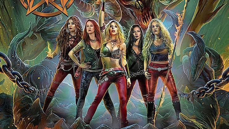 «Dance With The Devil» heisst ihr neustes Werk (von links): Sonia (Guitars), Jay (Bass), Laura (Vocals), Lala (Drums) und Romana (Guitars).