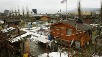 Auf dem Gelände der Schrebergärten in Altstetten soll das neue Eisstadion stehen.