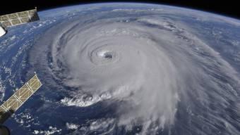 """Hurrikan """"Florence"""" - aufgenommen von der Internationalen Raumstation (ISS)."""