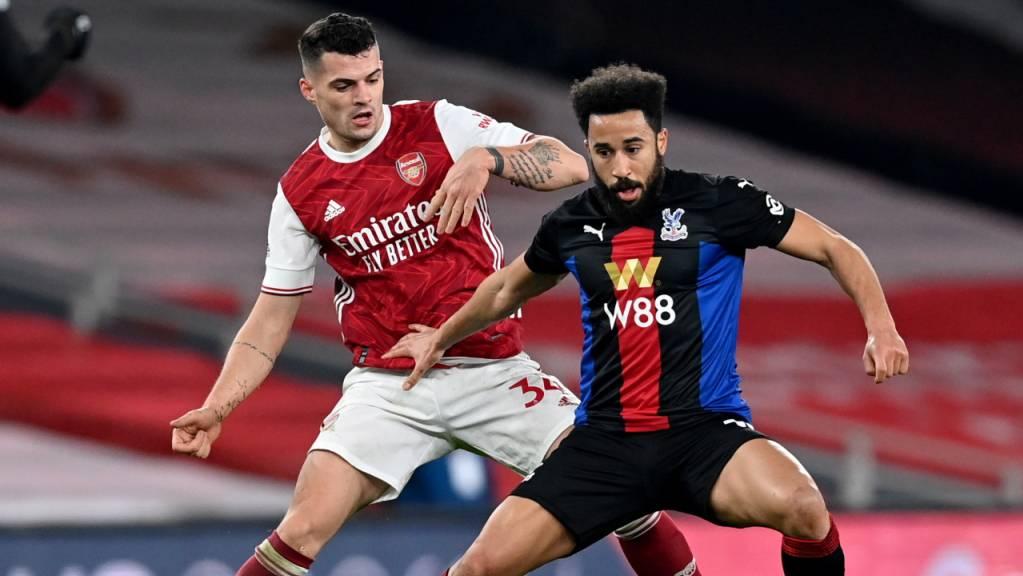 Kein Vorbeikommen: Granit Xhaka muss sich mit Arsenal gegen Crystal Palace mit einem 0:0 begnügen