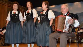 Begeisterte mit anspruchsvollen Stücken: der Jodlerklub Bärgblueme.