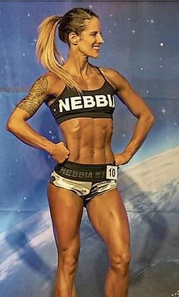 Andrea Haller beim Auftritt als «Sport Model».