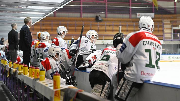 Der Farmteam-Alltag in der Swiss League: Die Oltner blicken in der Raiffeisen-Arena auf leere Zuschauerränge.