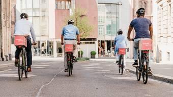 Werbung auf Fahrrädern kommt nach Solothurn.