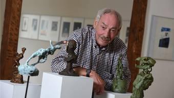 Christoph Gloor 2016 an einer Ausstellung zu seinen Ehren. bz-Archiv