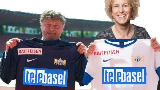 Fotoshop sei dank: Auf Twitter kursieren bereits Bilder, bei denen FC Zürich-Präsident Ancillo Canepa zusammen mit Telebasel-Chefredaktorin Karin Müller den neuen Trikot-Sponsor des FCZ präsentieren.