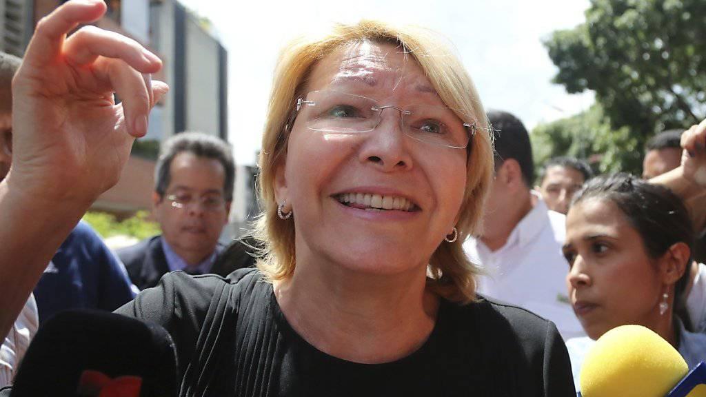 Die abgesetzte Generalstaatsanwältin Venezuelas Luisa Ortega Diaz fürchtet das Regime von Staatschef Maduro. (Archivbild)