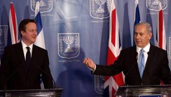 Regierungschef Netanjahu (rechts) empfängt Premier Cameron