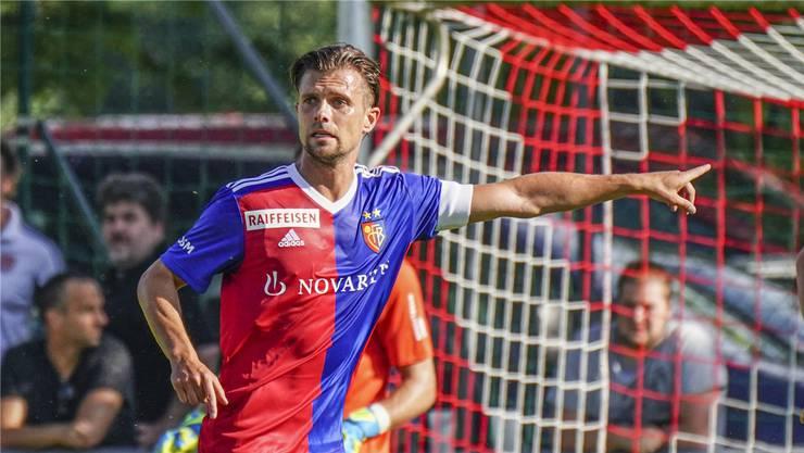 Gegen Nürnberg erstmals offiziell mit der Captainbinde am Arm: Valentin Stocker.