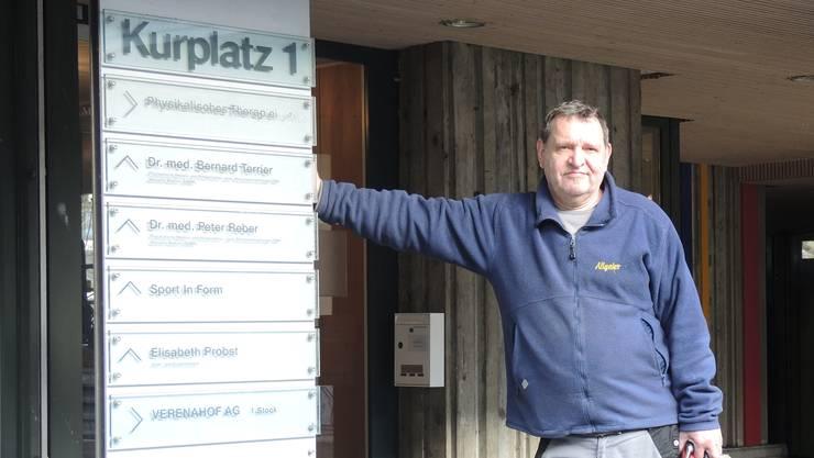 Freddy Neuenschwander vor dem «Staadhof», in dem er zehn Jahre lebte.