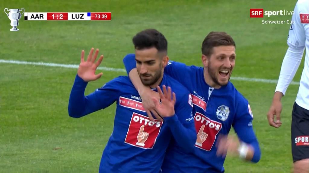 Cup-Knüller: Der FC Aarau verliert gegen den FC Luzern knapp mit 2:1