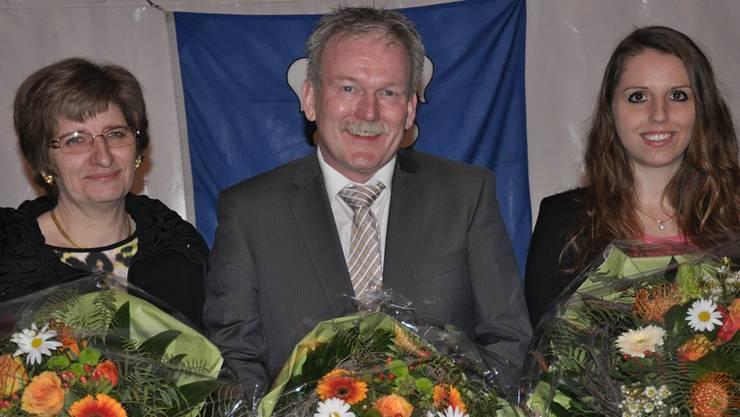 Das Präsidium (v.l): Christiane Ilg, Stephan Wittwer, Cécile Mounoud.bhi