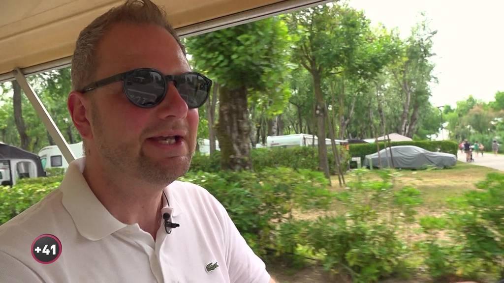 Massimo Battaglia ist Platzmeister des Fünfsterne Camping in Italien