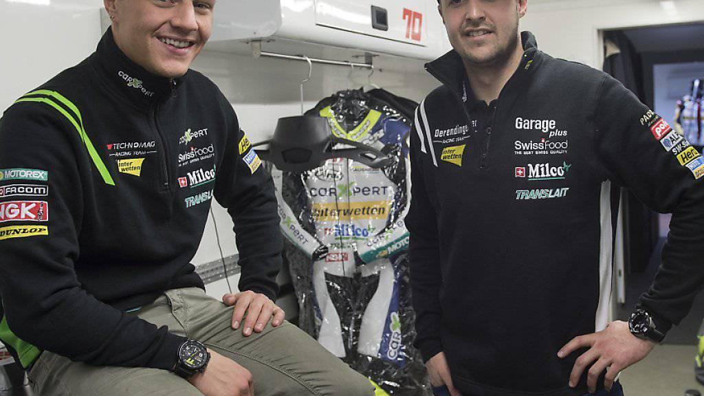 Für Tom Lüthi und Dominique Aegerter (links) ist der Traum von einem Aufstieg in die MotoGP nicht ausgeträumt